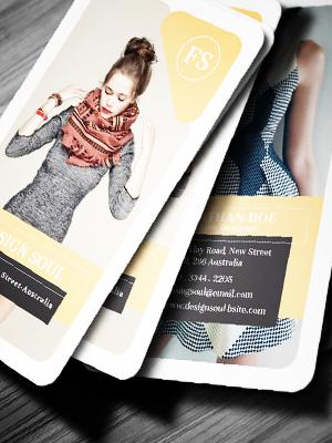 tarjetas plastificadas con candos redondos