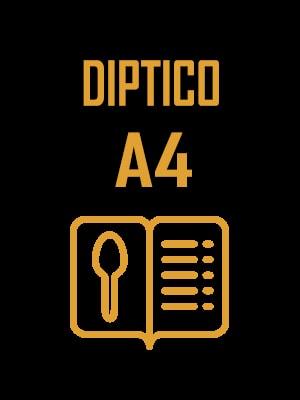 Cartas de menu diptico a4