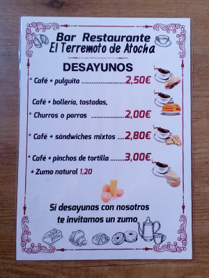 Cartas de menu plastificadas A3