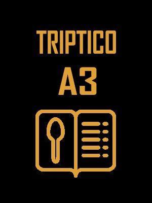 Cartas Menu A3 tripticos