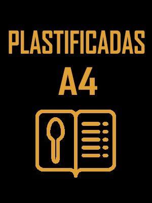 Cartas de menu A4