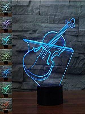 lampara 3d violin