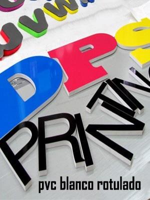 Letras corpóreas de pvc rotulados