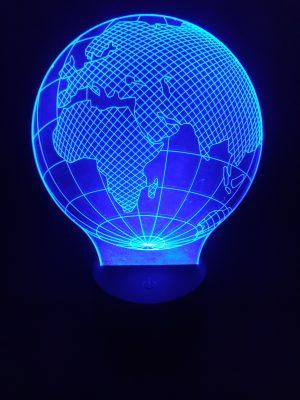 lampara 3d el mundo