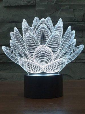 lampara 3d flora