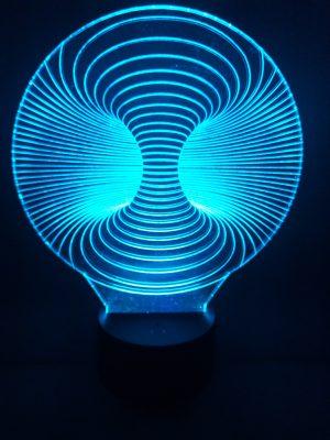 lampara 3d doble agujero