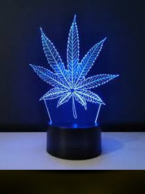 lampara 3d marijuana