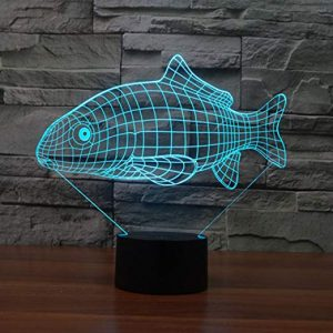 fish 3d lamp