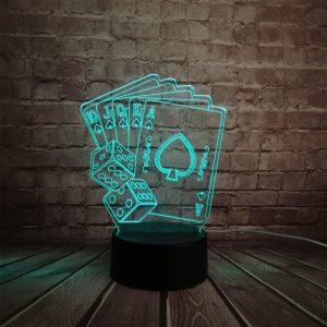 poker 3d lampara